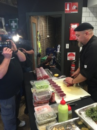 Backstage Chef filming Sydney